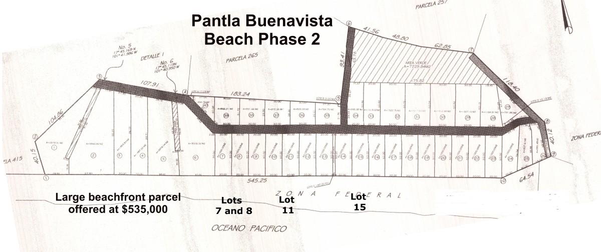 Pantla beachfront lots Ixxtapa Zihuatanejo Mexico
