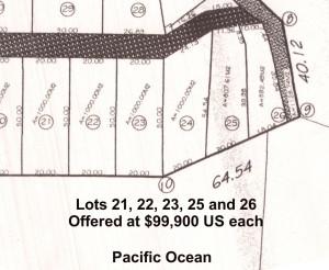 Plat Detail Pantla Beach Lots