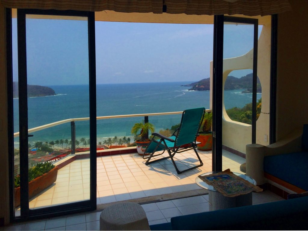 Terrace view with Zihuatanejo Bay